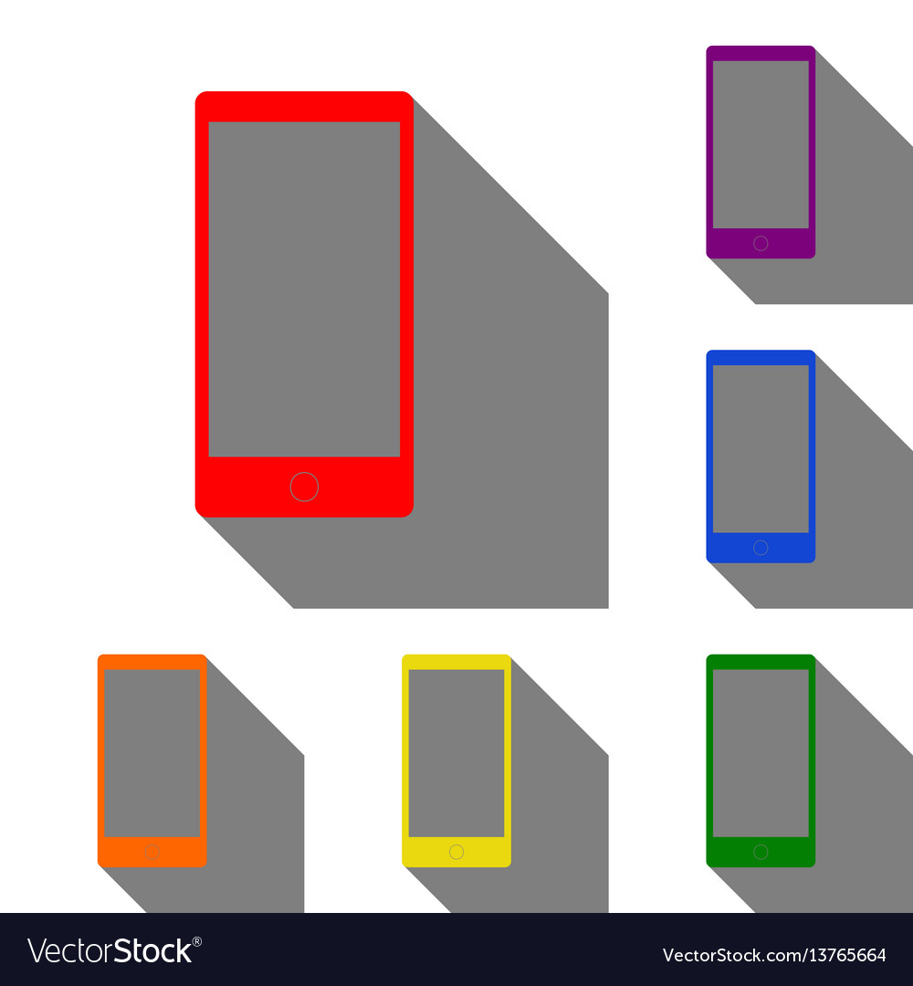 Abstract style modern gadget with blank screen