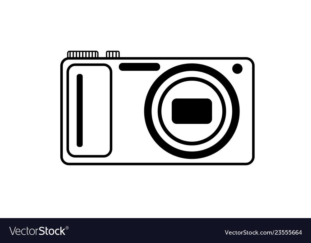 Black and white logo of the digital camera