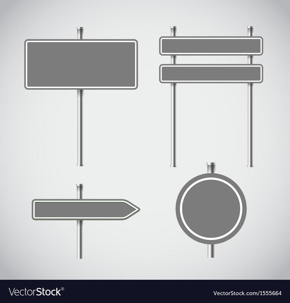 Blank grey metal arrow boards collecion