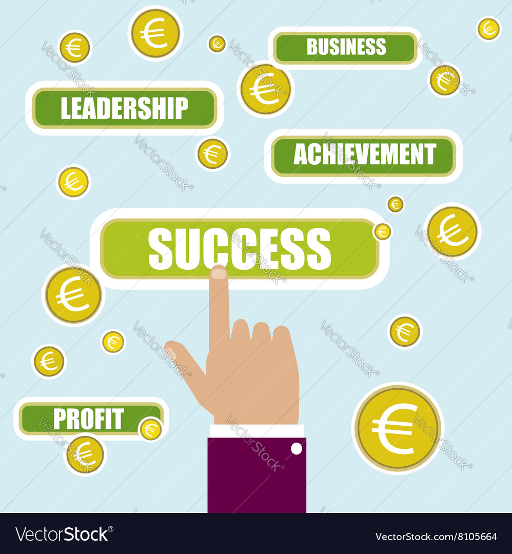 Business concept Success key word