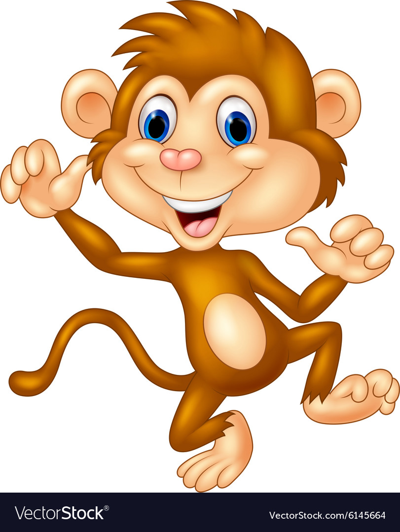 Cartoon monkey silly face