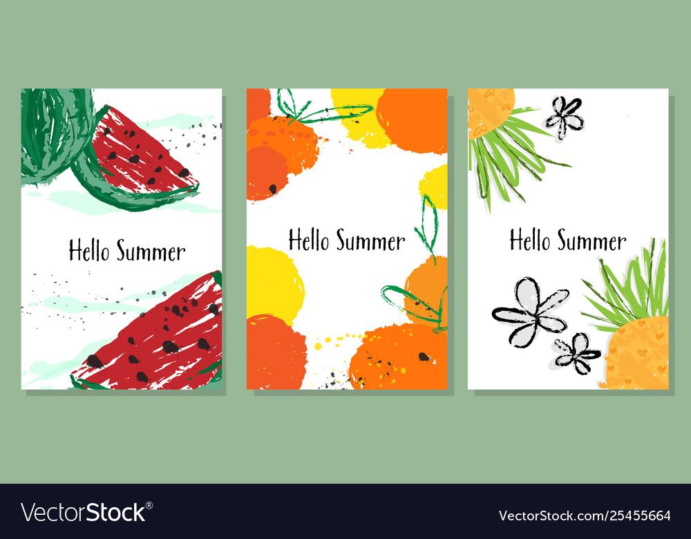 Hello summer banner collection