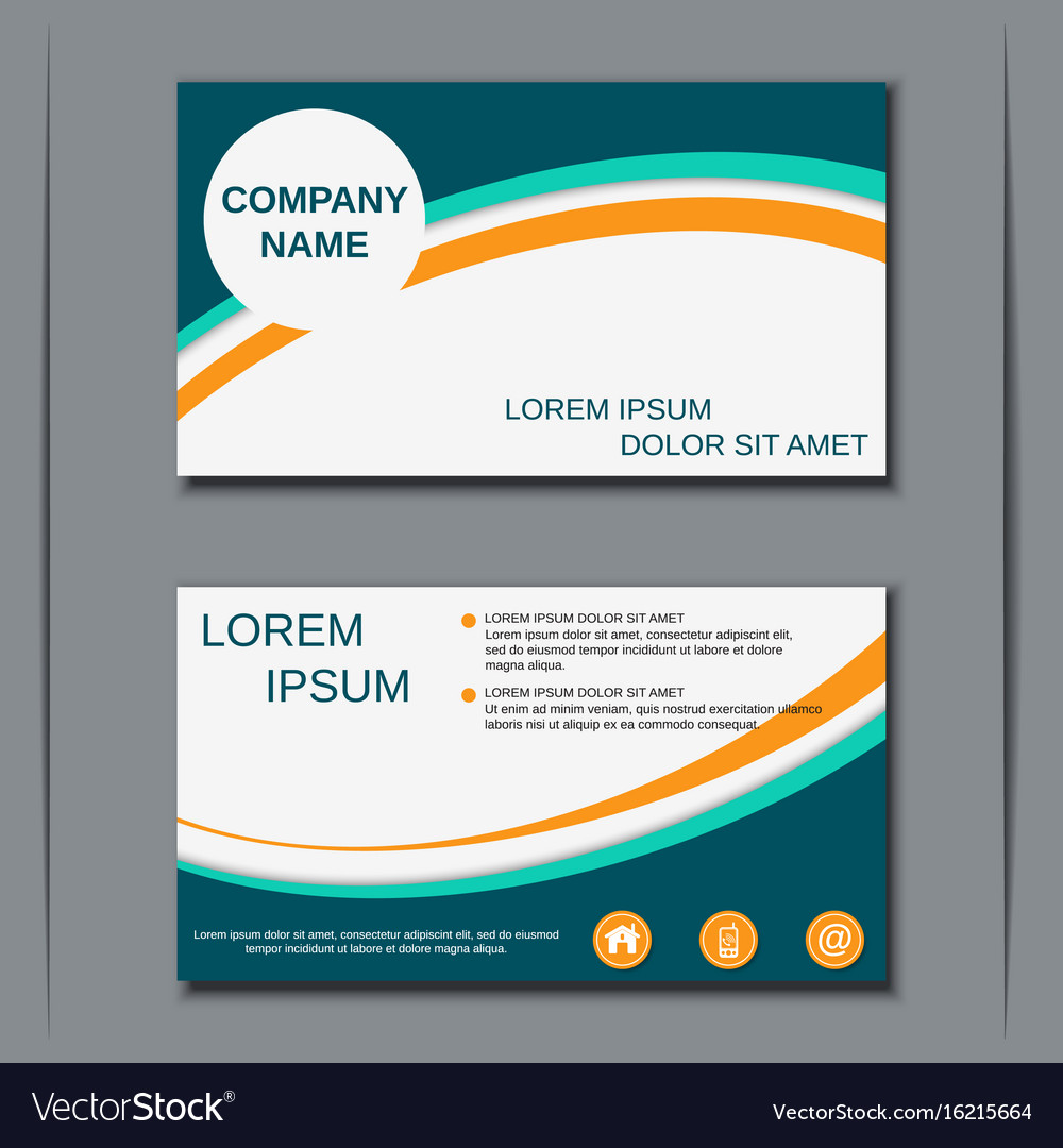Modern business visiting card design royalty free vector modern business visiting card design vector image reheart