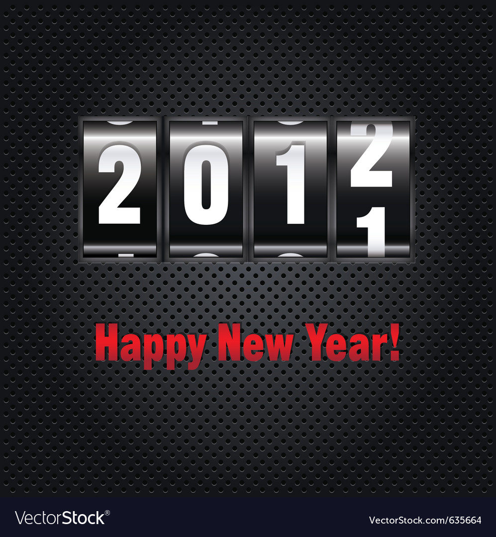 New year counter vector image