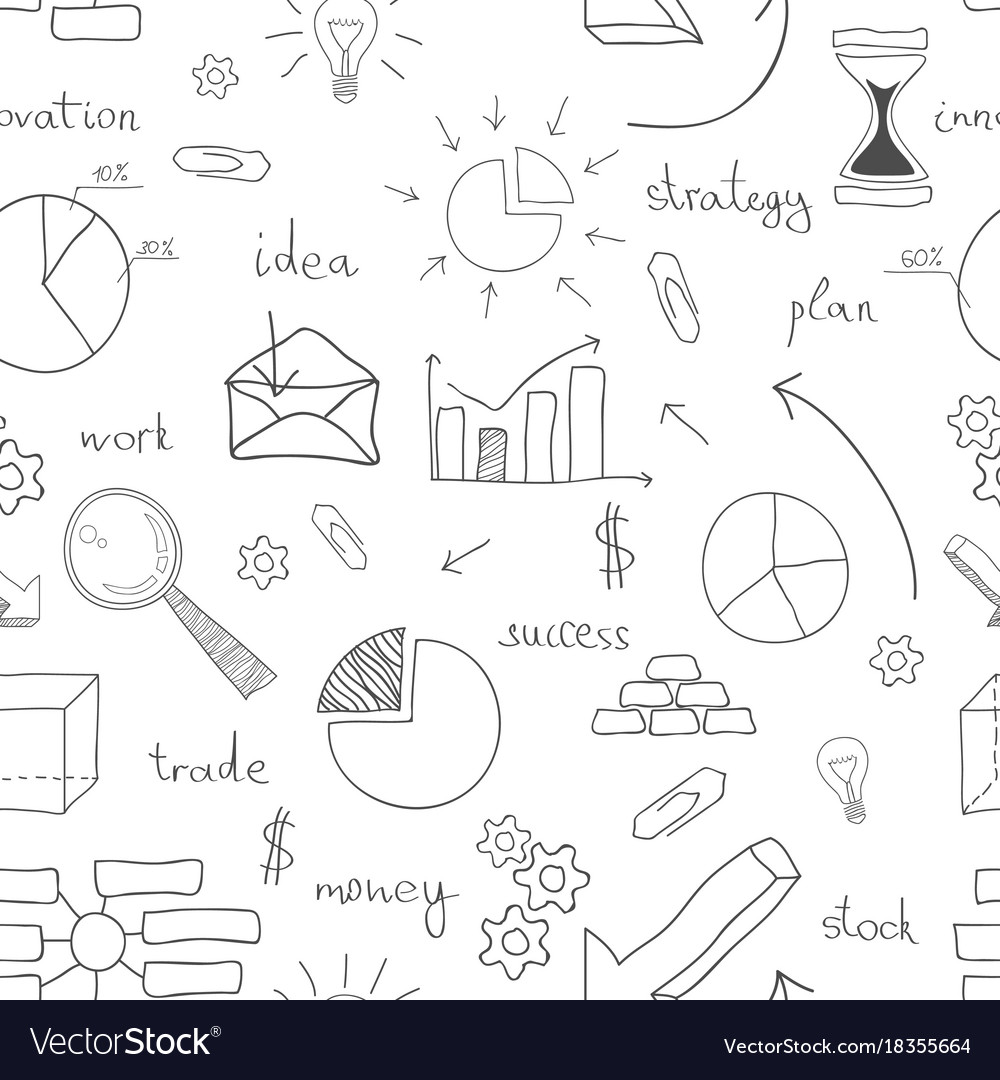 Seamless business icon background