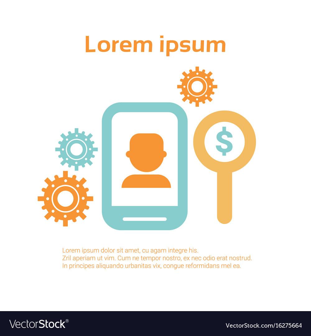 Tablet monitor business economic infographics set