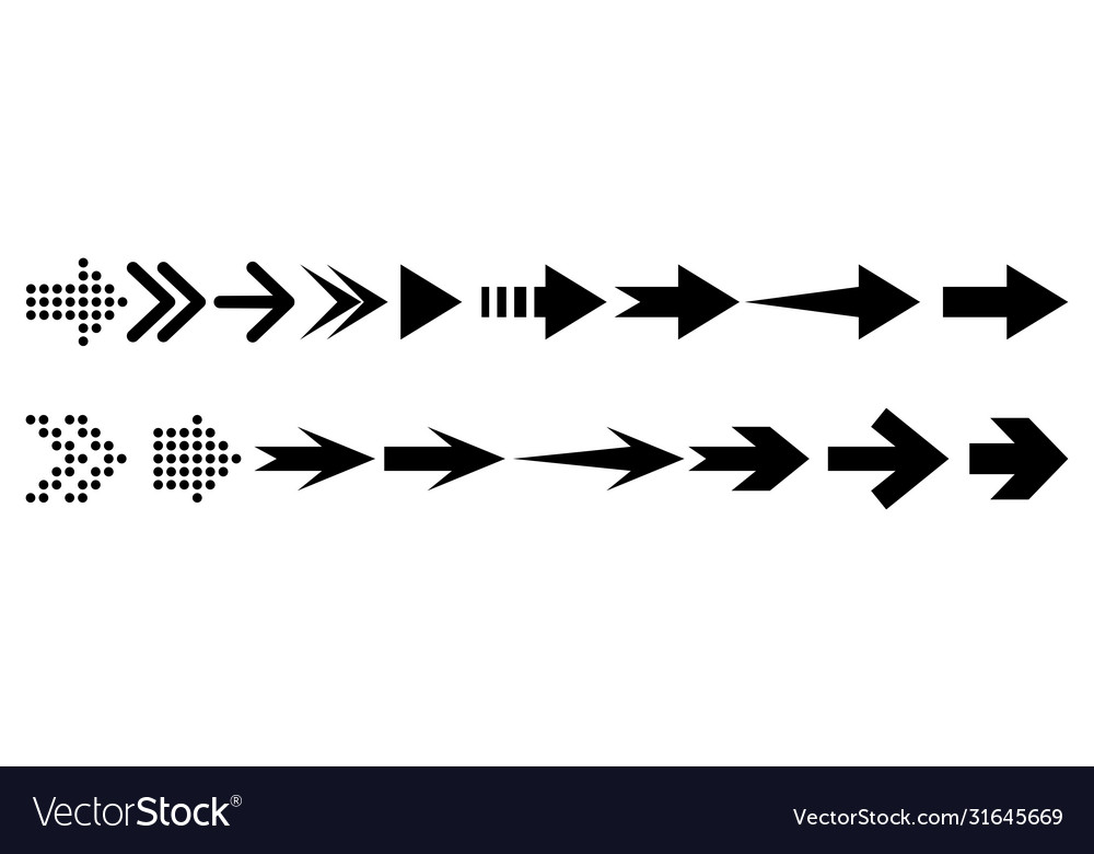Arrow collection arrow icon design element
