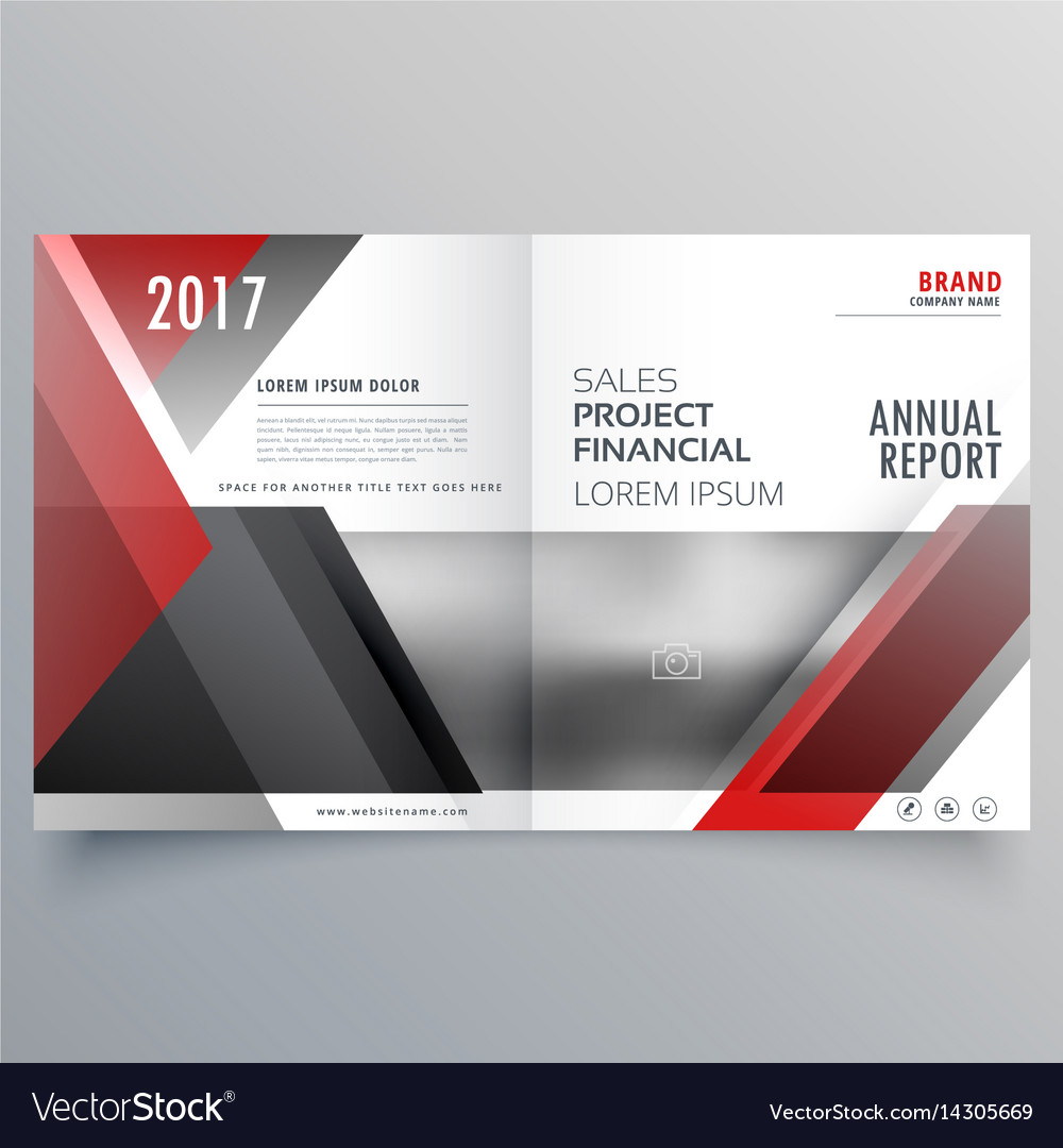 brochure magazine cover page template layout in vector image