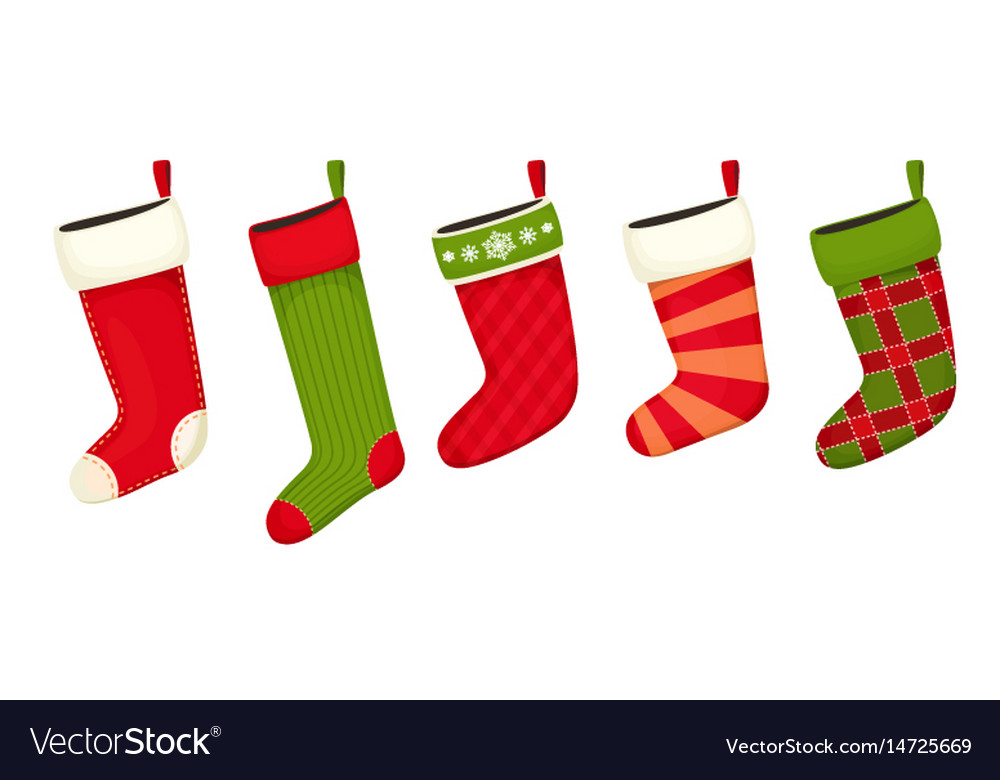 Christmas stockings red green colors