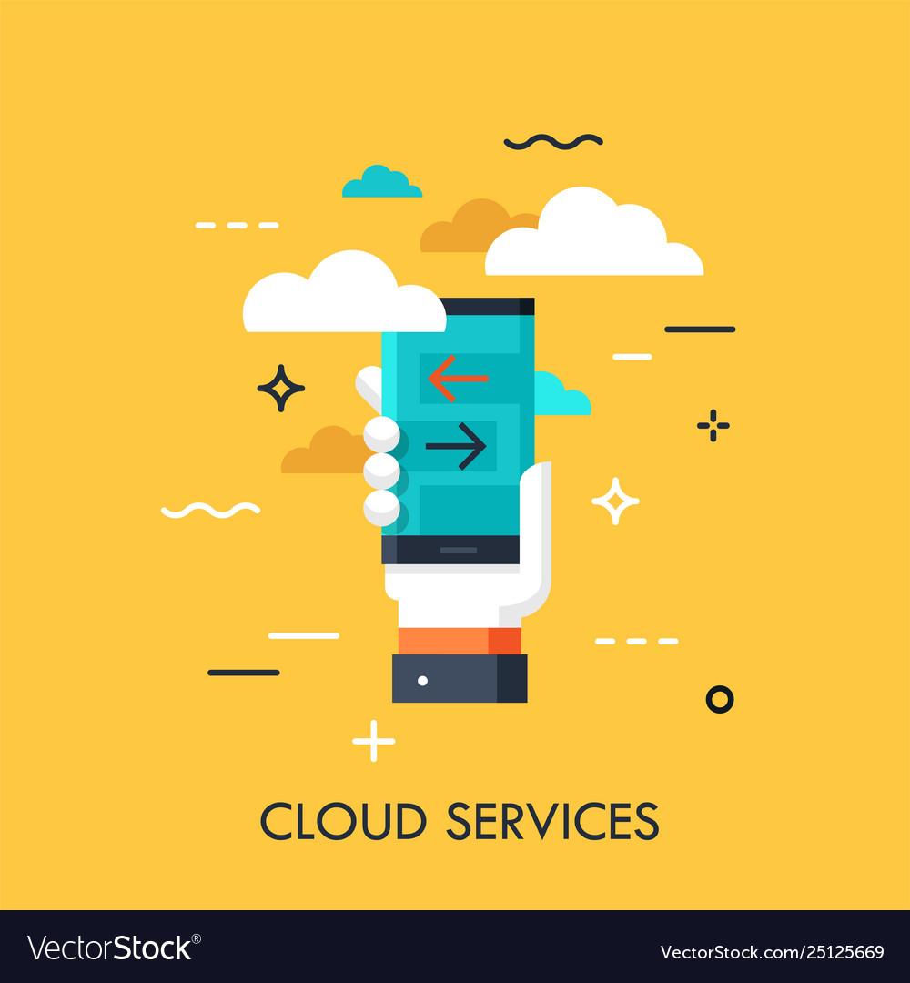 Cloud services flat concept