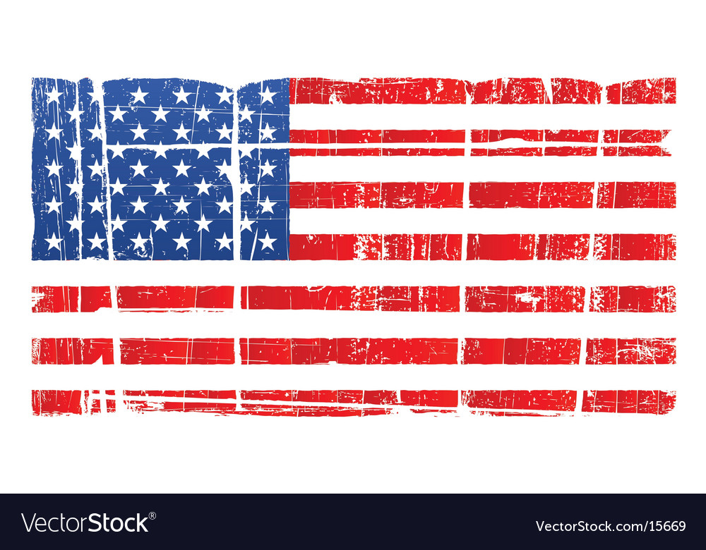 American flag distressed. National