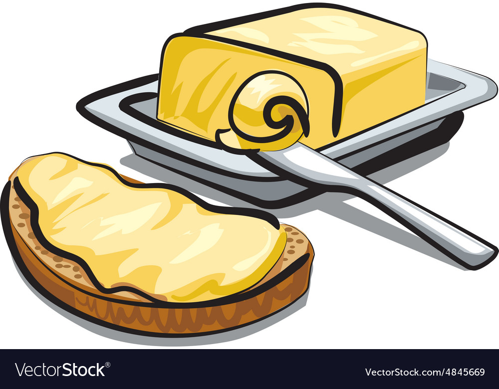 Fresh butter vector image