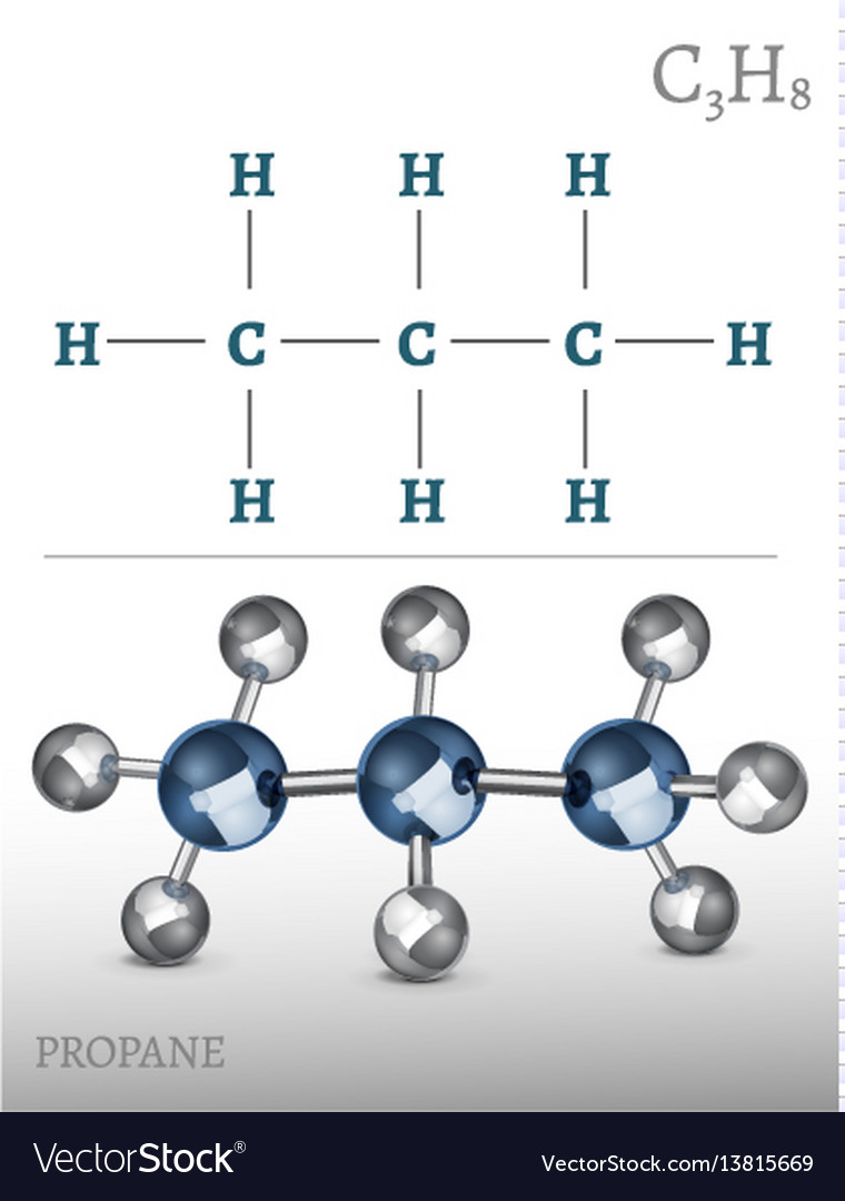 Propane Molecule Image Royalty Free Vector Image