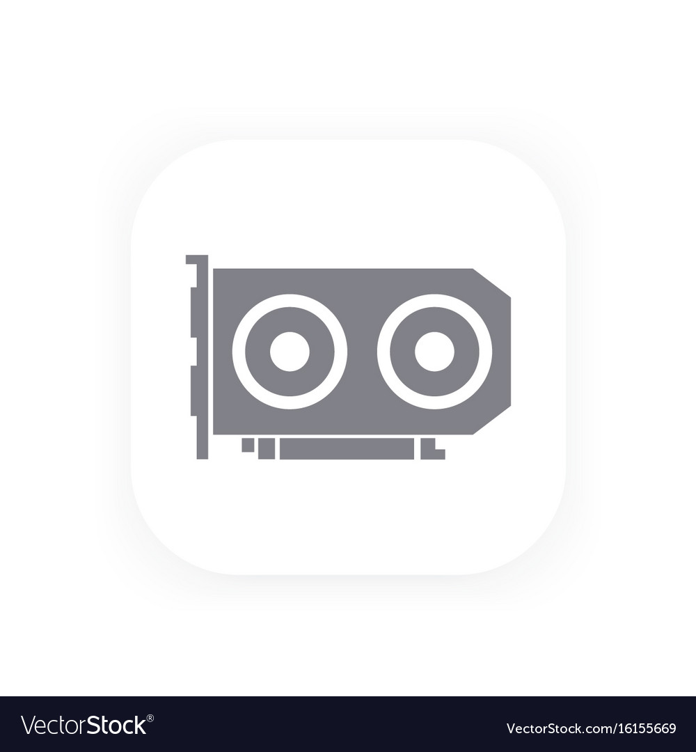 Video card icon pictogram vector image