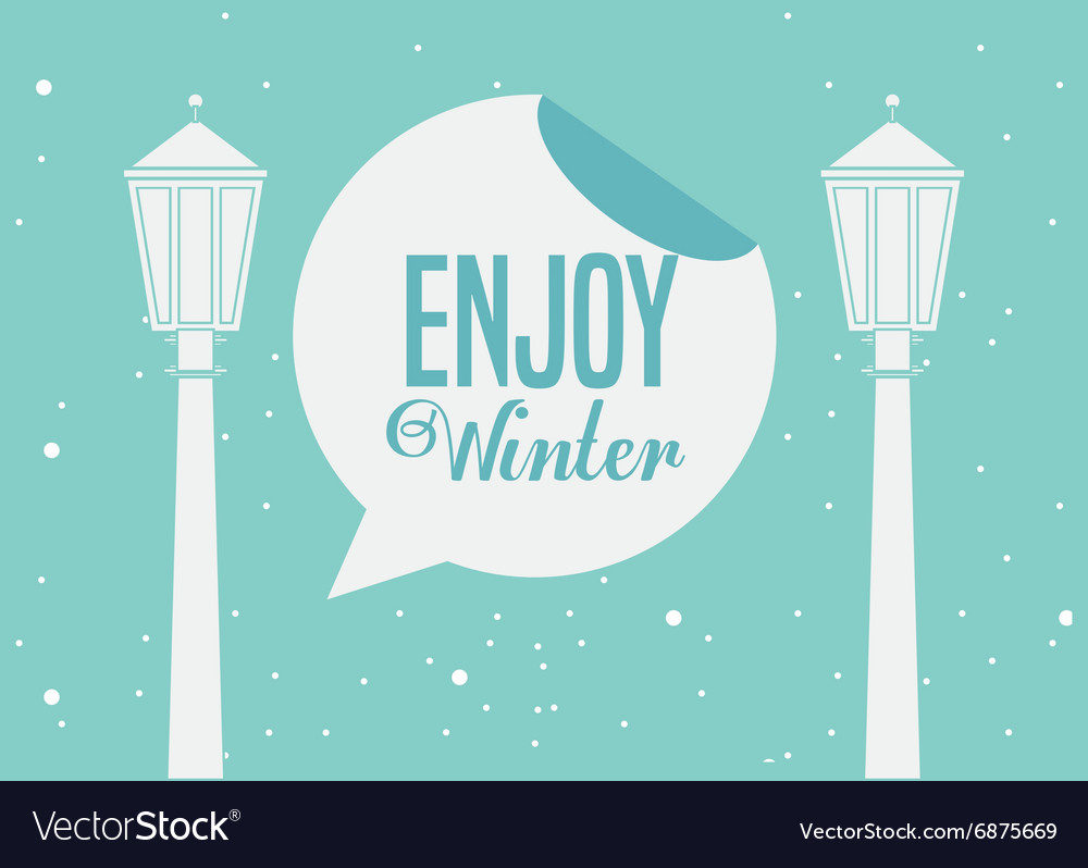 Welcome winter design royalty free vector image