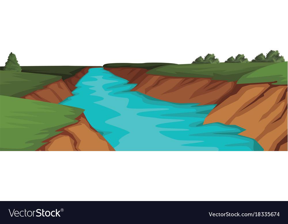 Beautiful river landscape