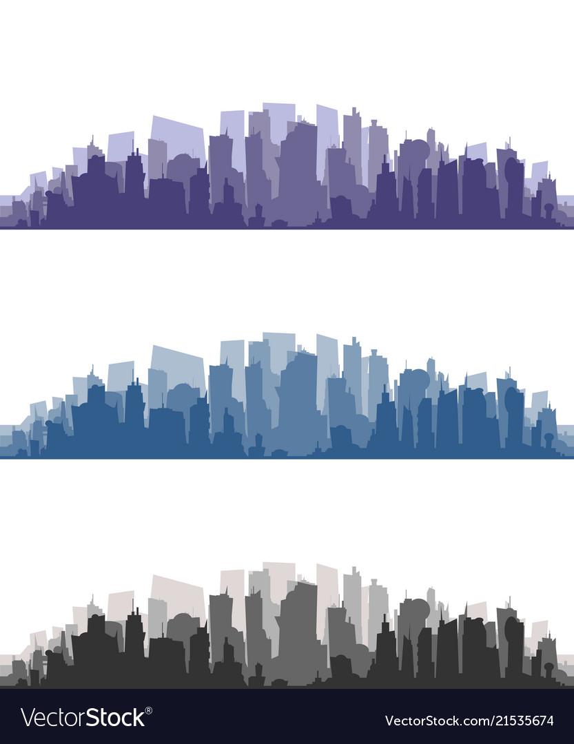 City building silhouette