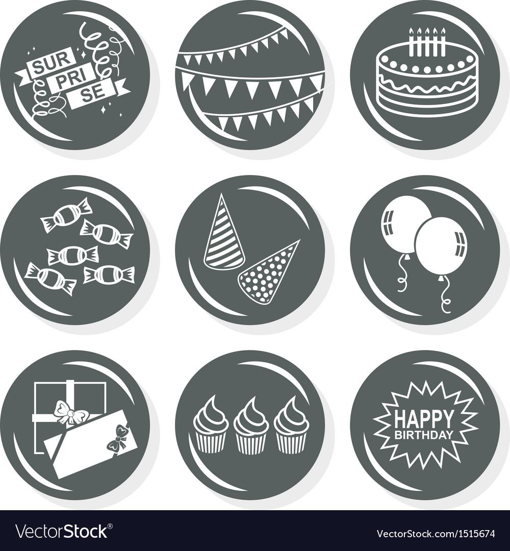 Happy birthday icons