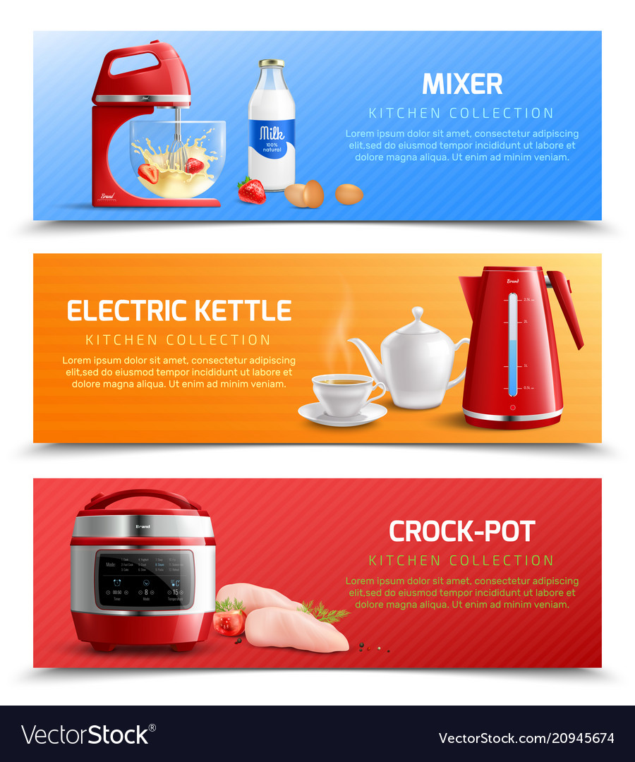 Household Appliances Horizontal Banners