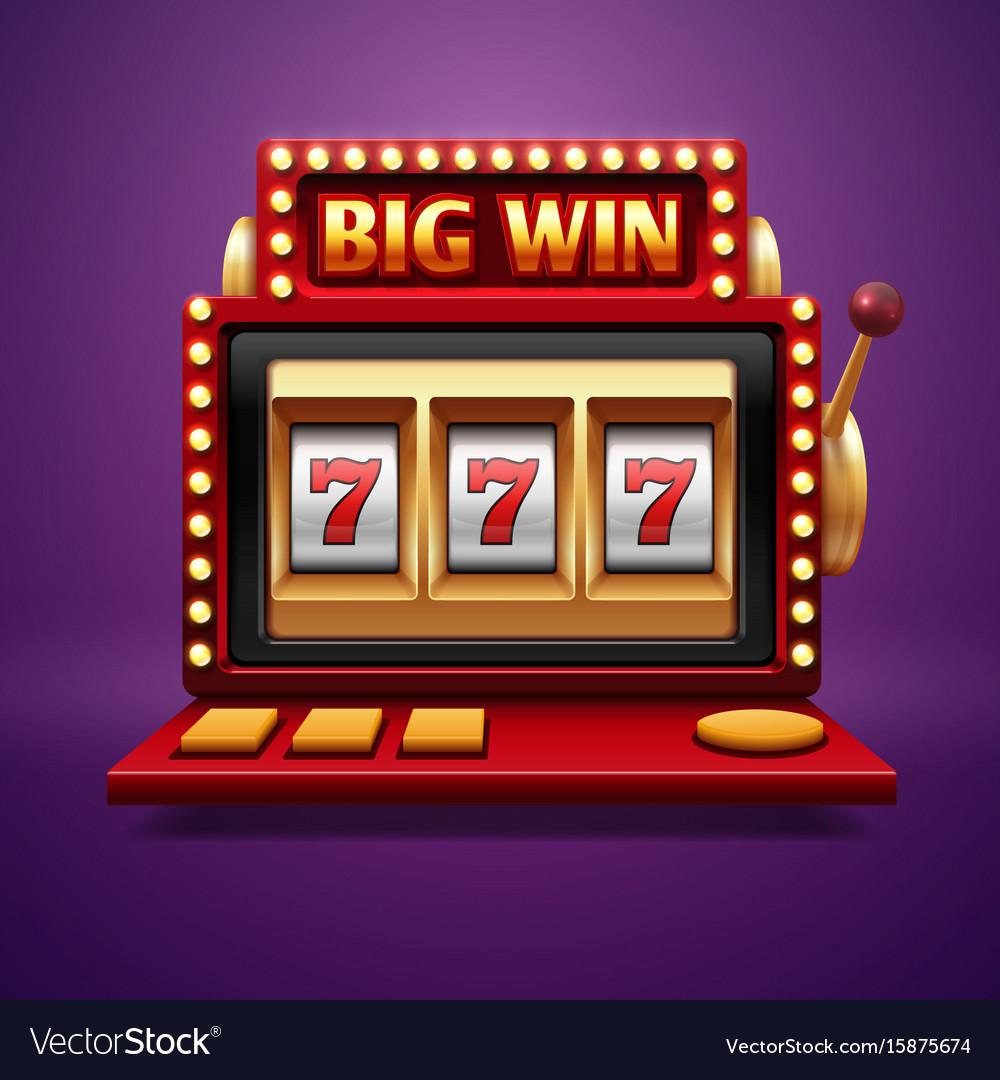 Jackpot slot casino machine one arm bandit vector image