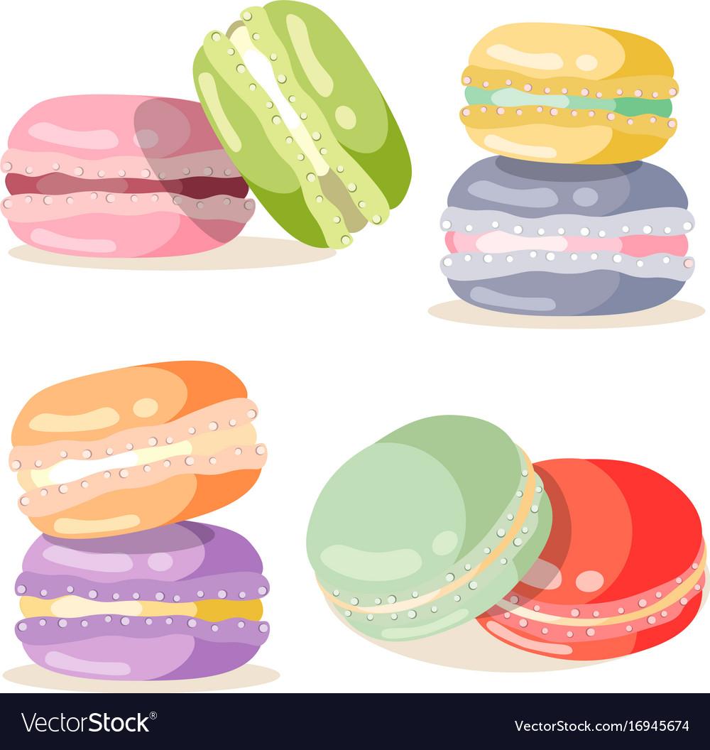 Macaron set different taste and colour