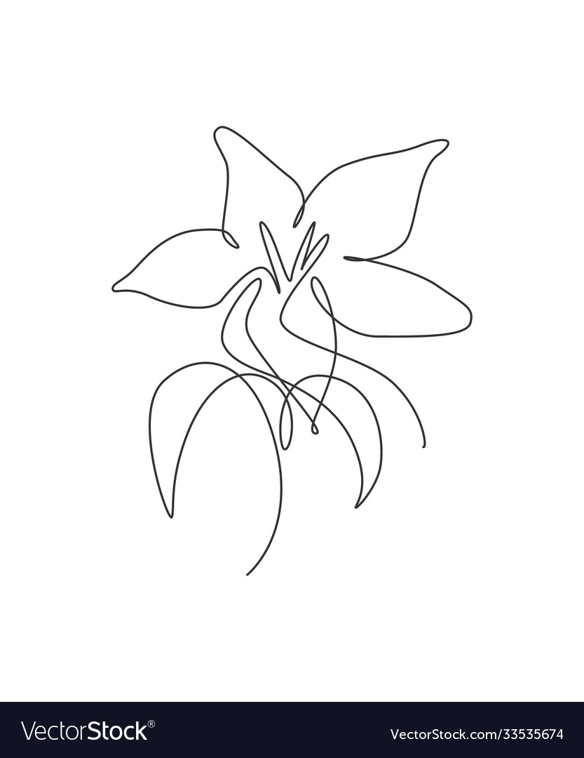 One continuous line drawing beautiful abstract