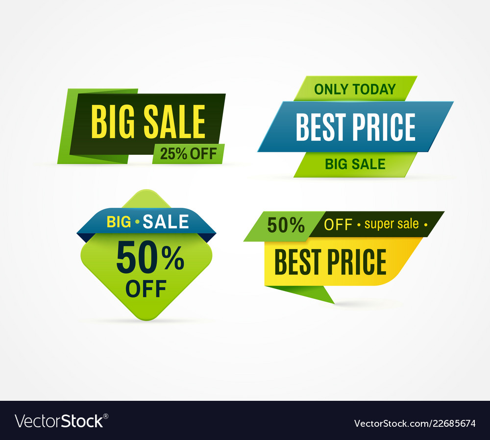 Price tag sale offer banner discount promotion