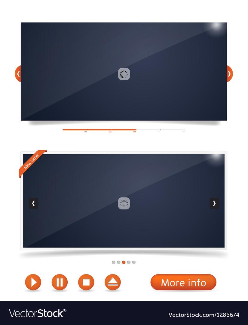 Web design frames vector image