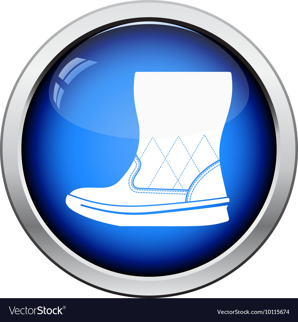 Woman fluffy ugg boot icon