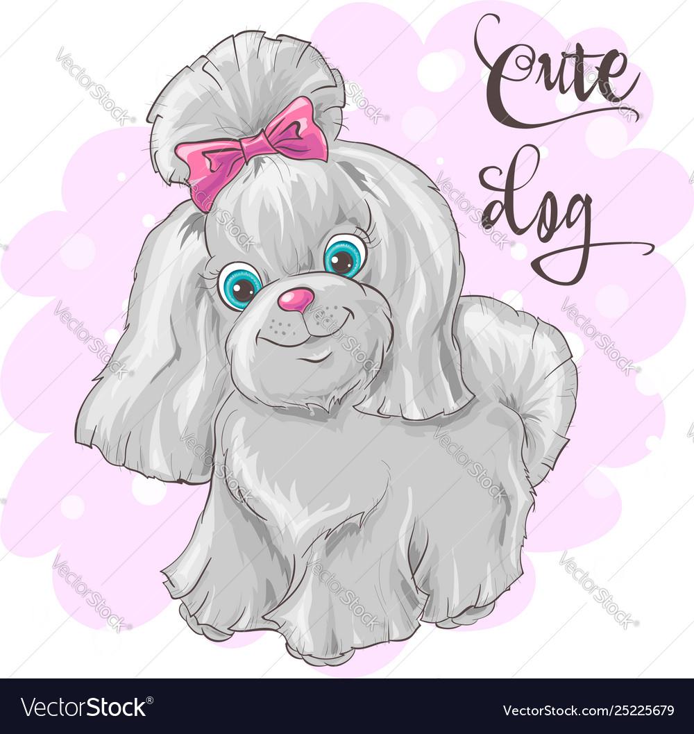 A cute little dog print for