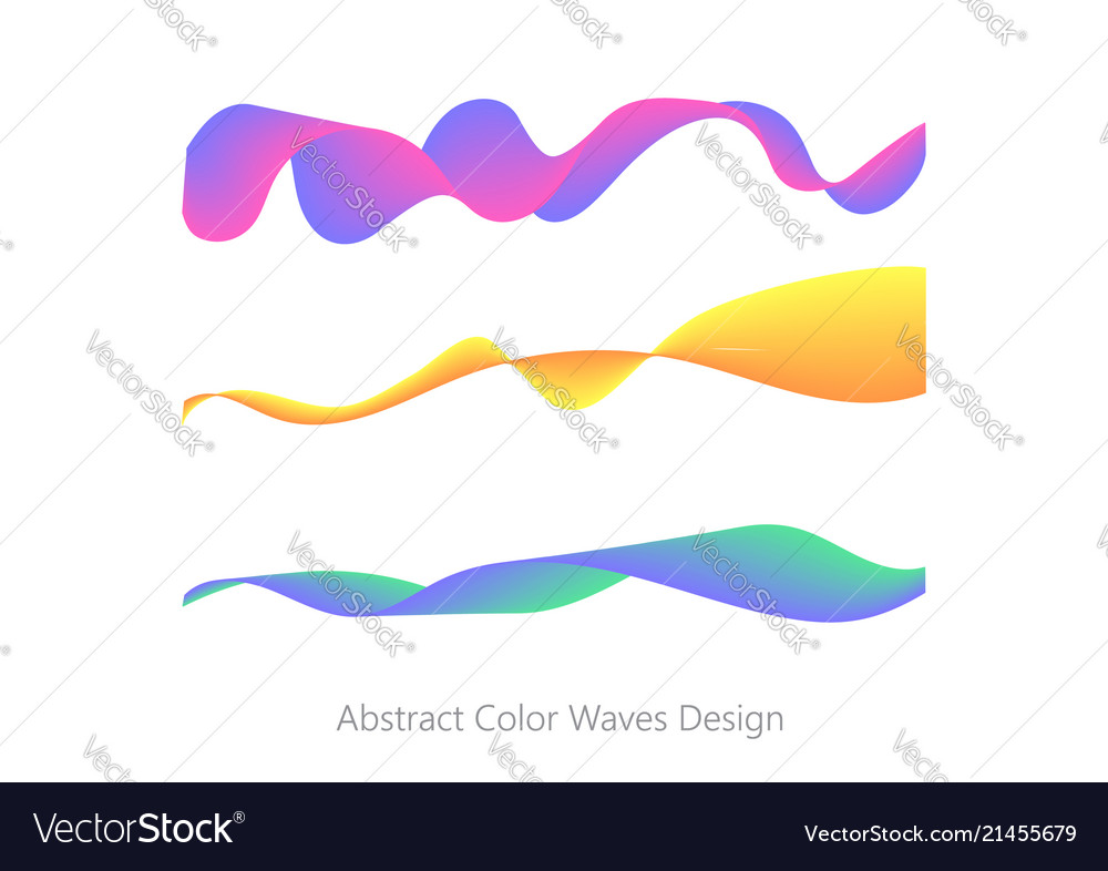 Abstract colorful wave element for design