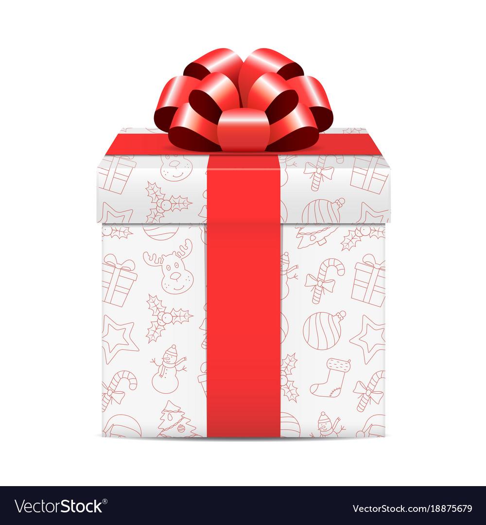 Christmas gift box Royalty Free Vector Image - VectorStock