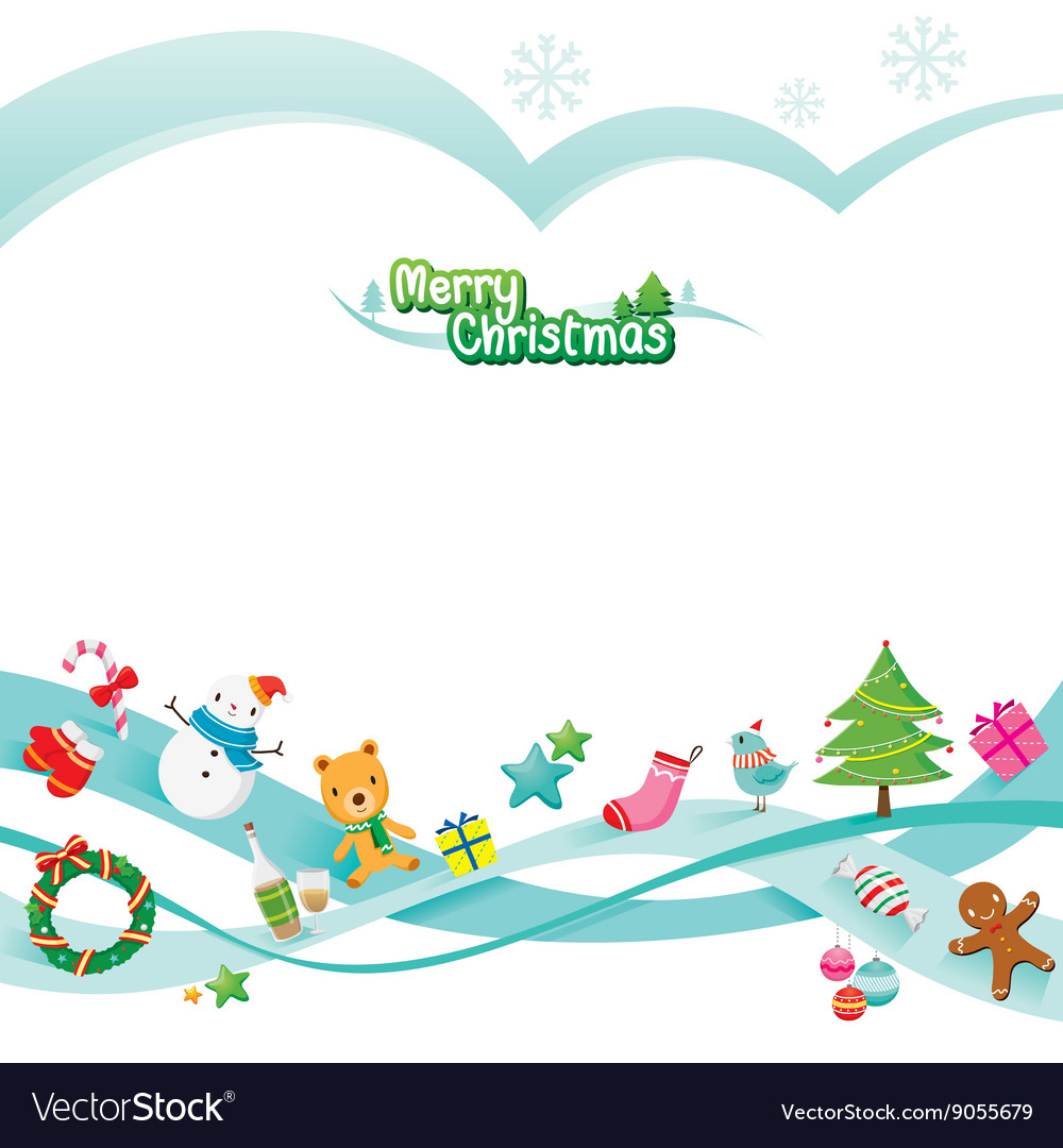 Christmas Ornaments Decoration Card Royalty Free Vector
