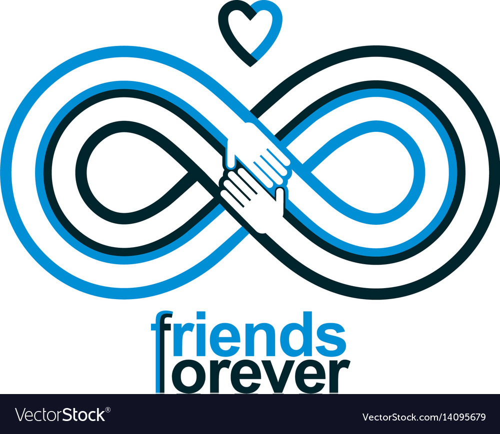 Friends forever everlasting friendship conceptual