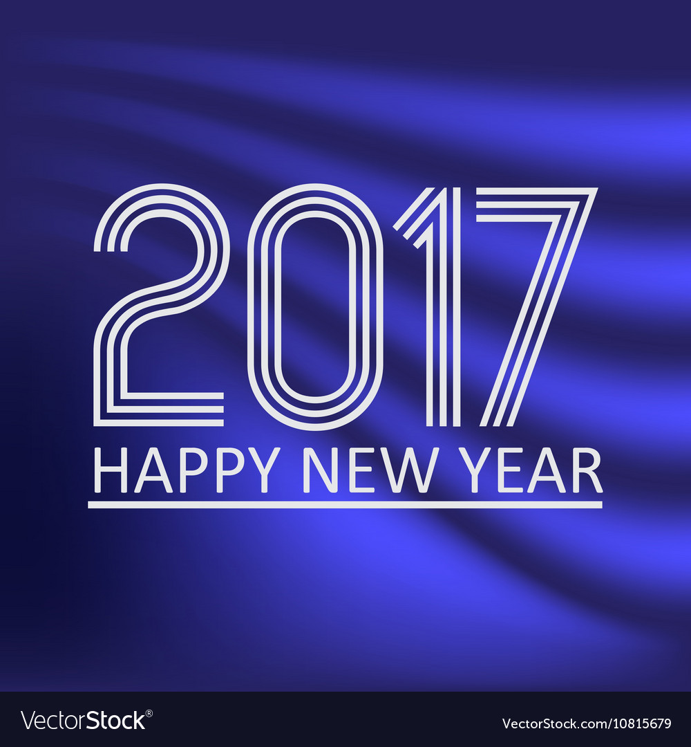 Happy new year 2017 on dark blue abstract color
