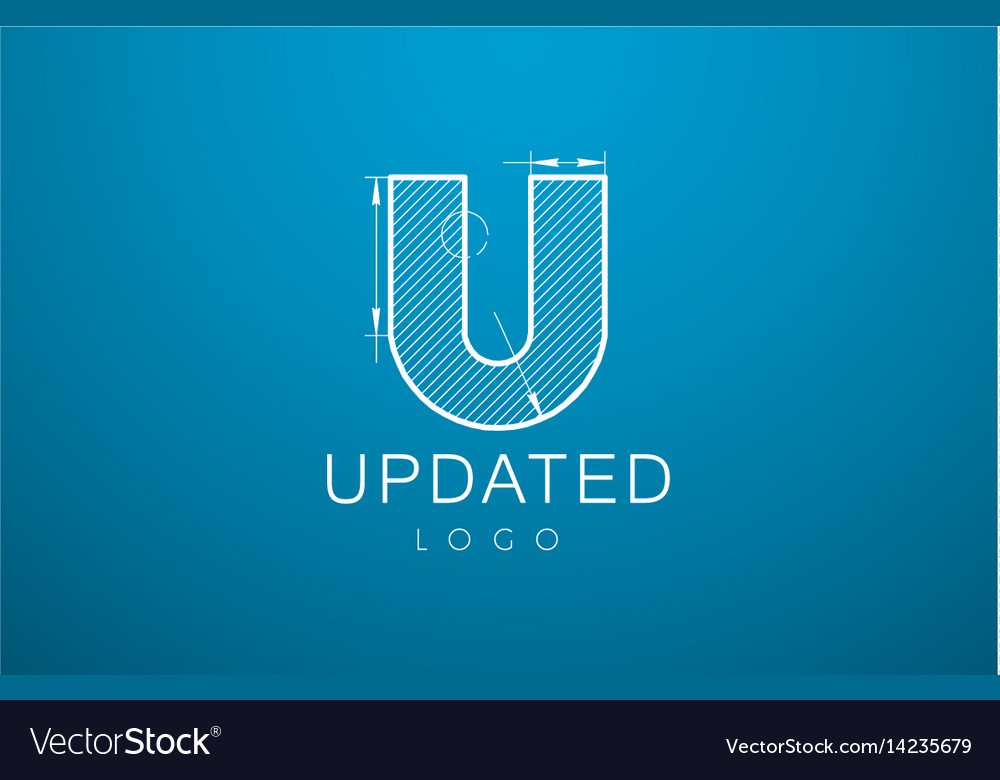 Logo template letter u in the style of a vector image