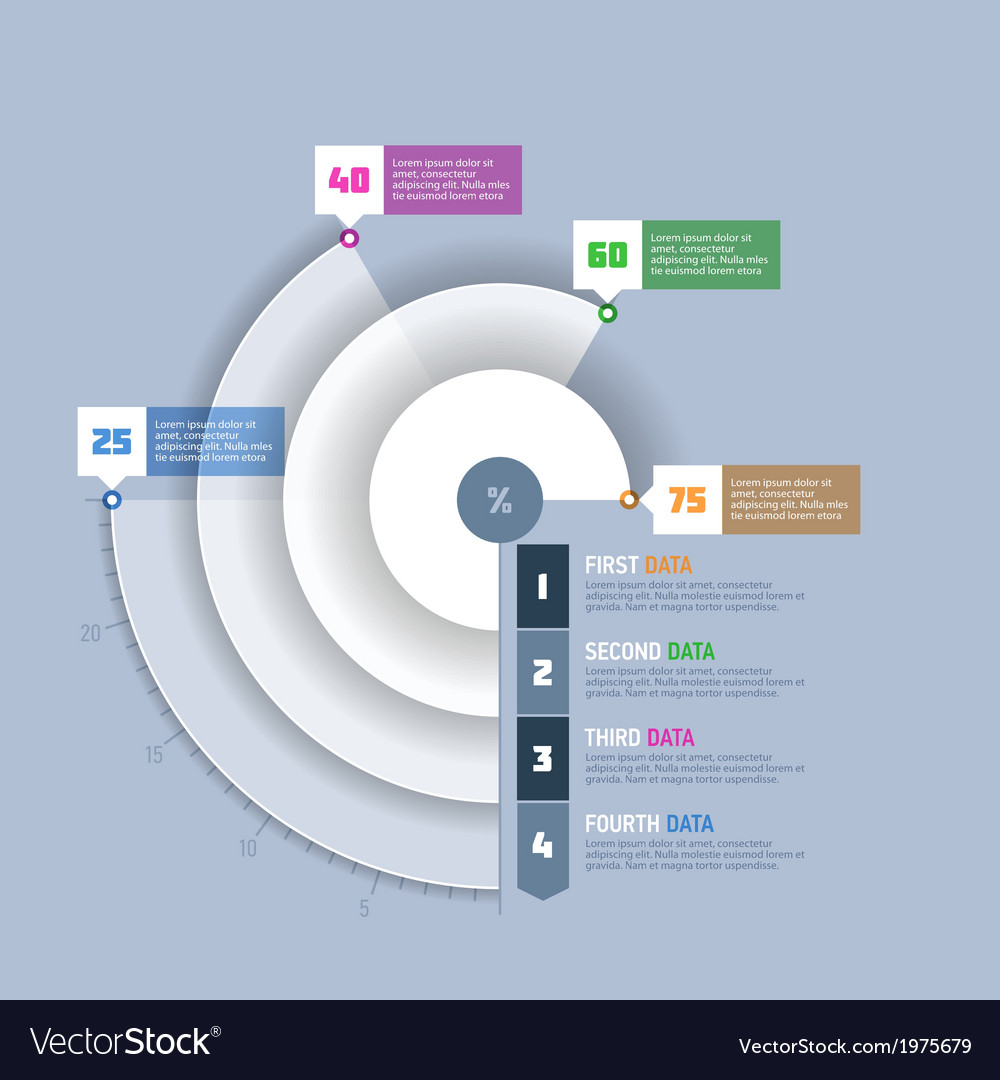 Pie chart circle graph infographics element vector image ccuart Image collections
