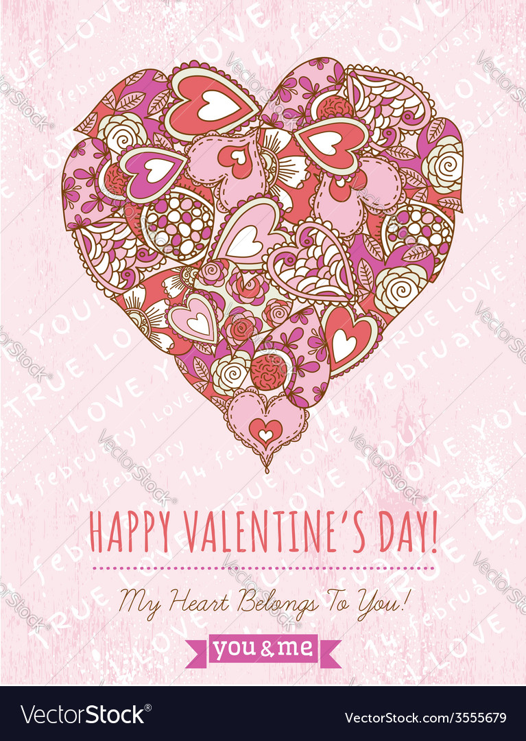Pink background with valentine heart