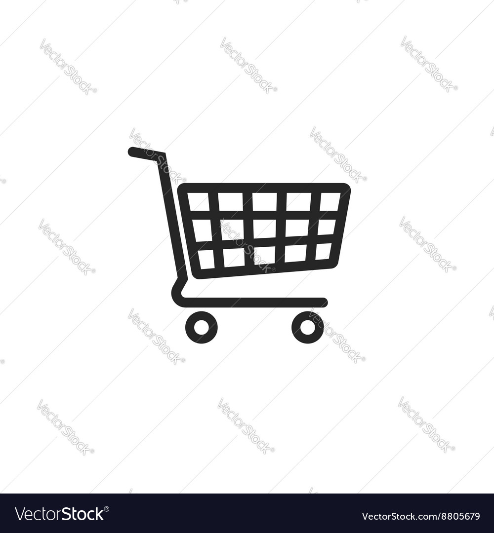 Shopping cart icon supermarket trolley vector image