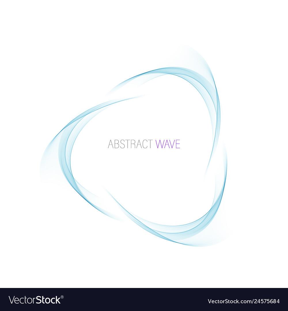 Abstract blue swirl circle