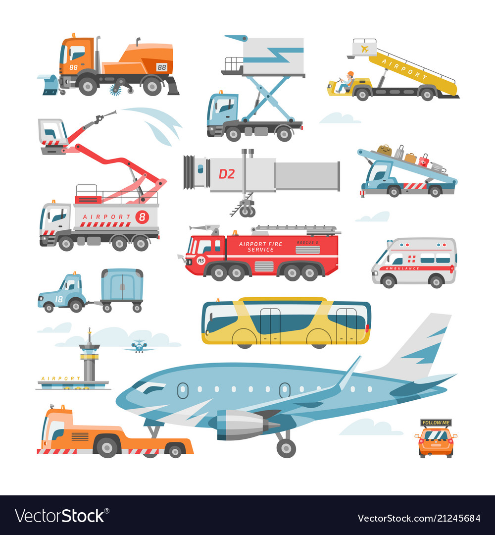 Airport vehicle aviation transport in