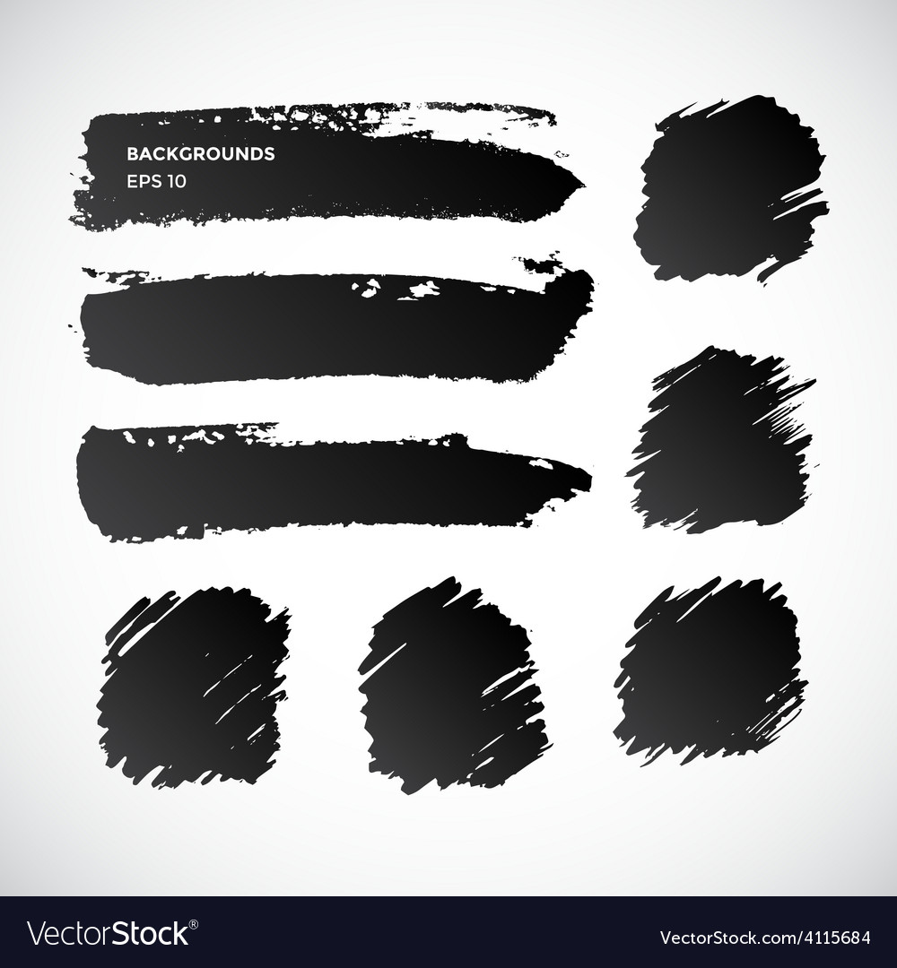 Brushstroke banners Ink spot backgrounds vector image