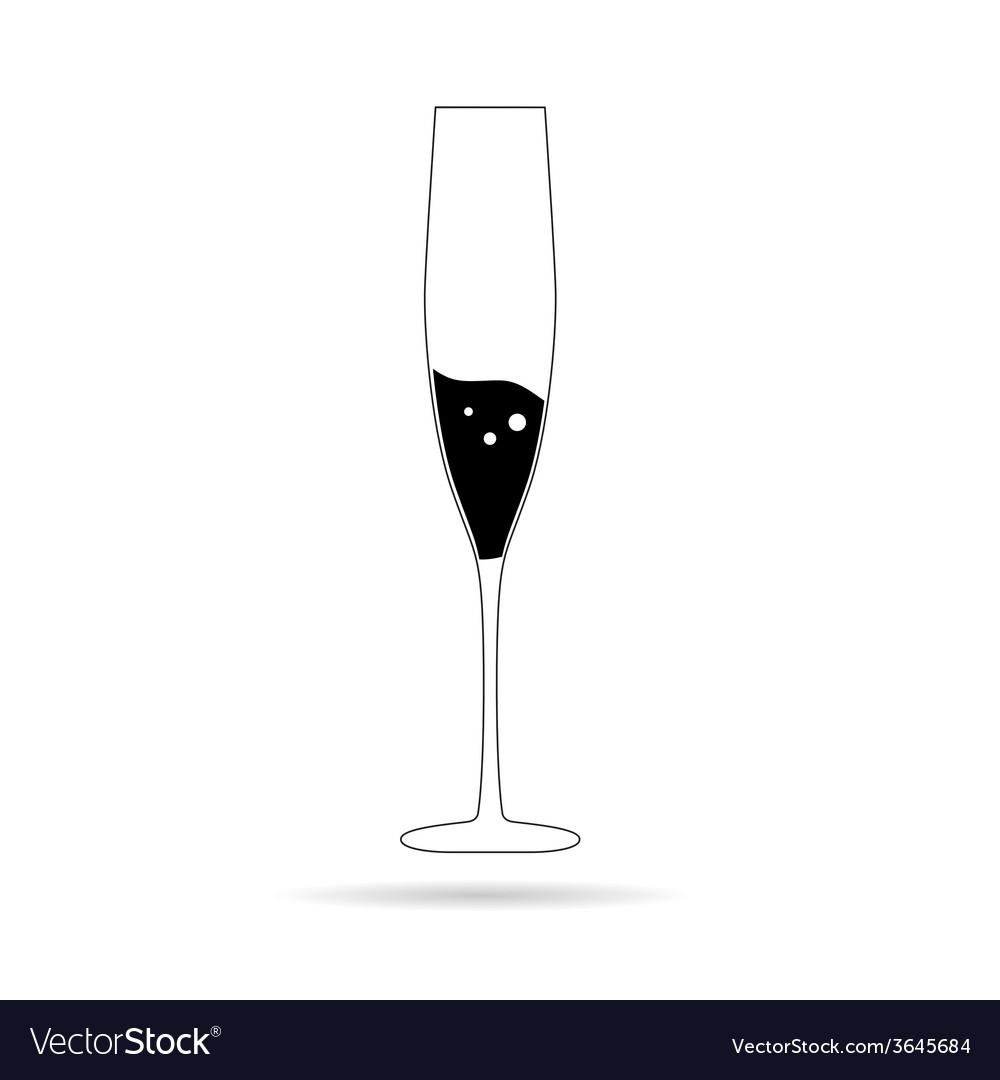 Champagne in a glass vector image