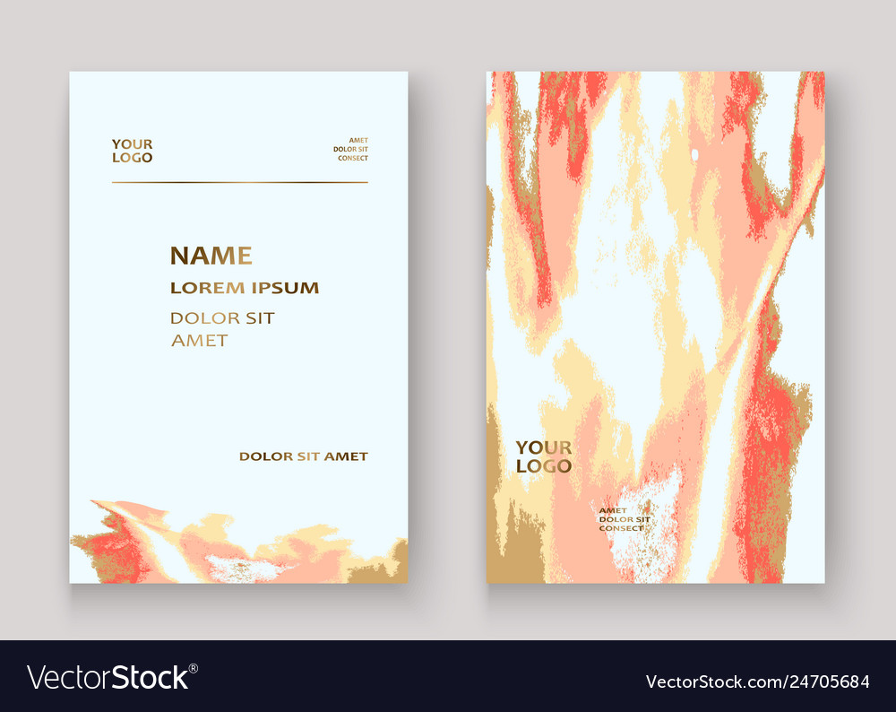 Coral gold marble luxurious texture paint