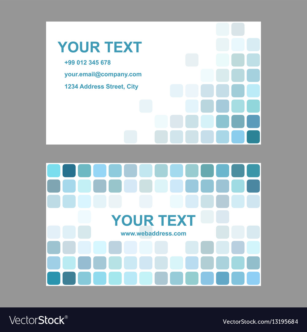 Cyan abstract business card template design