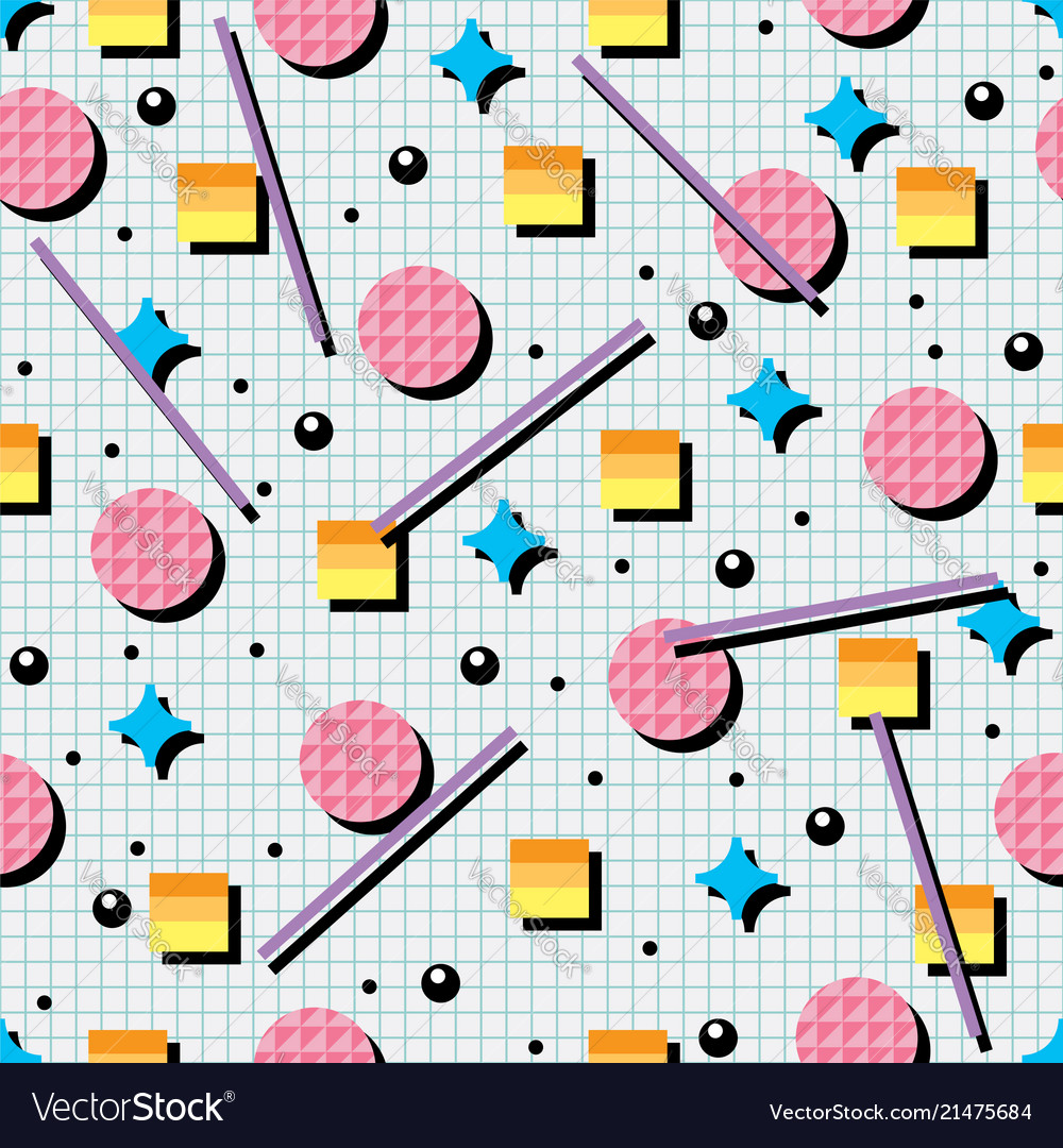 Seamless 80s or 90s background pattern