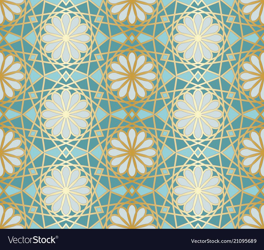 Arabic seamless pattern traditional islamic vector image