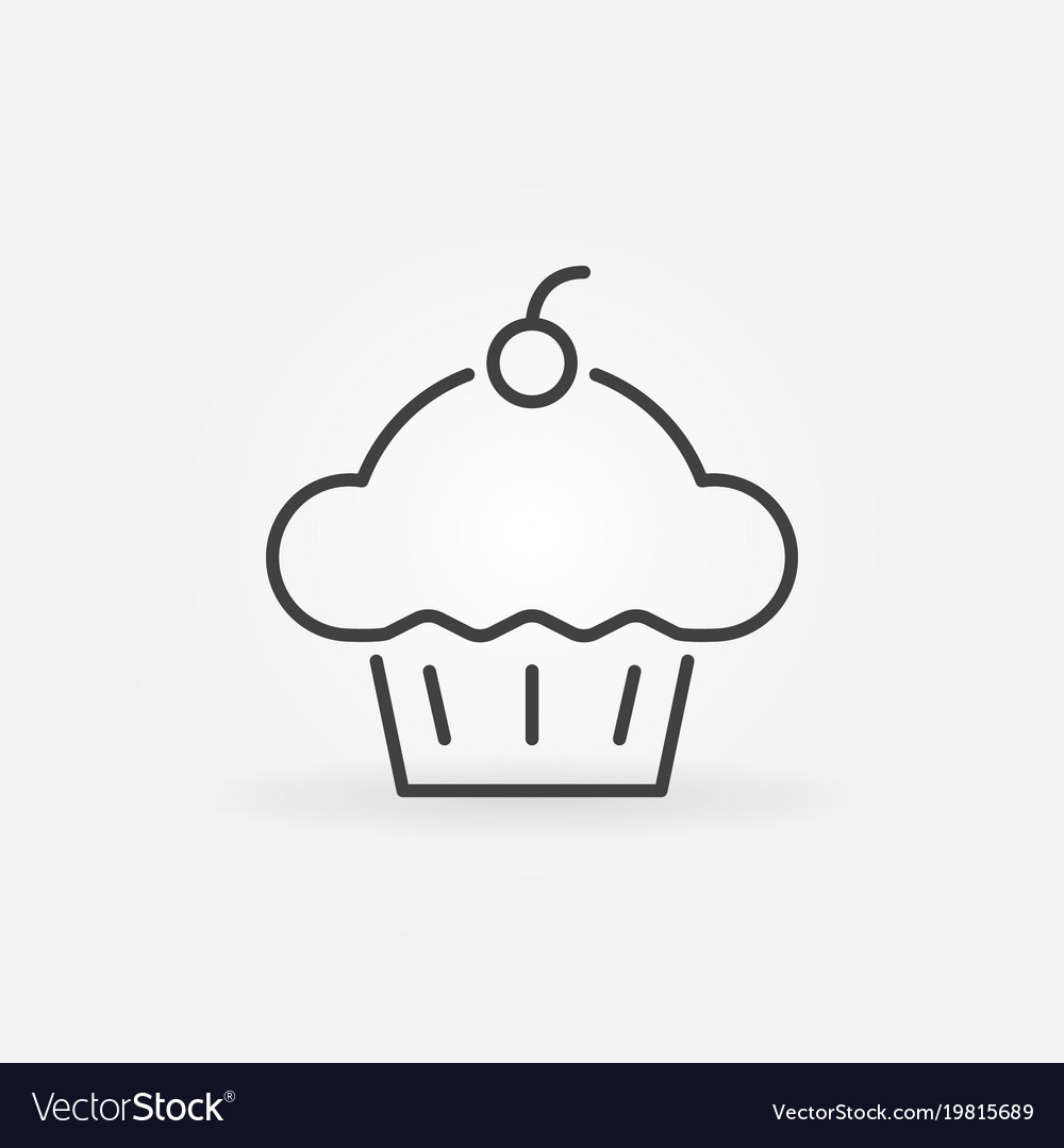 Cupcake Concept Icon Cup Cake Line