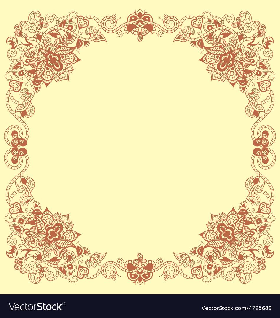 Floral vintage frames