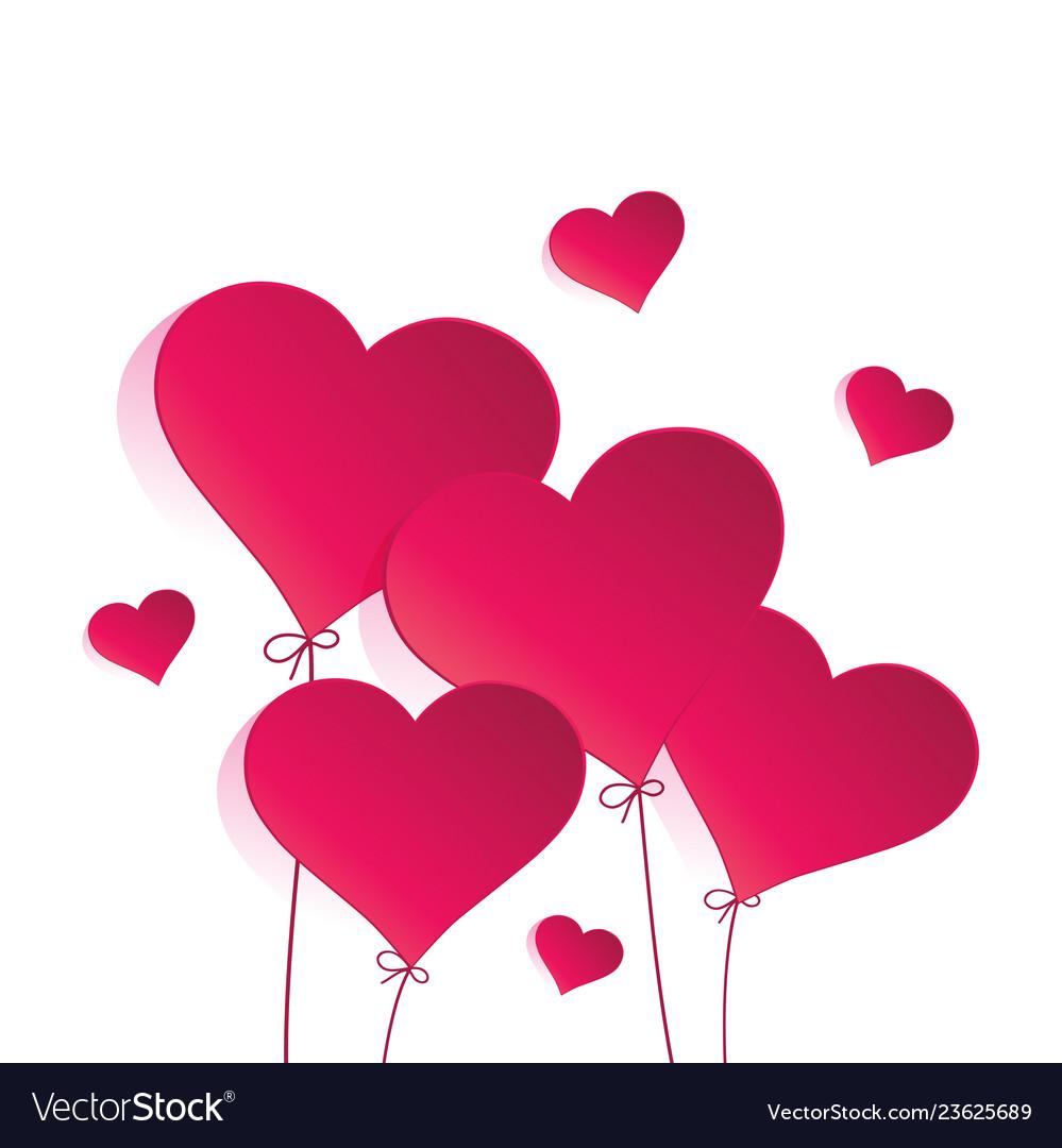 Heart balloon on white background